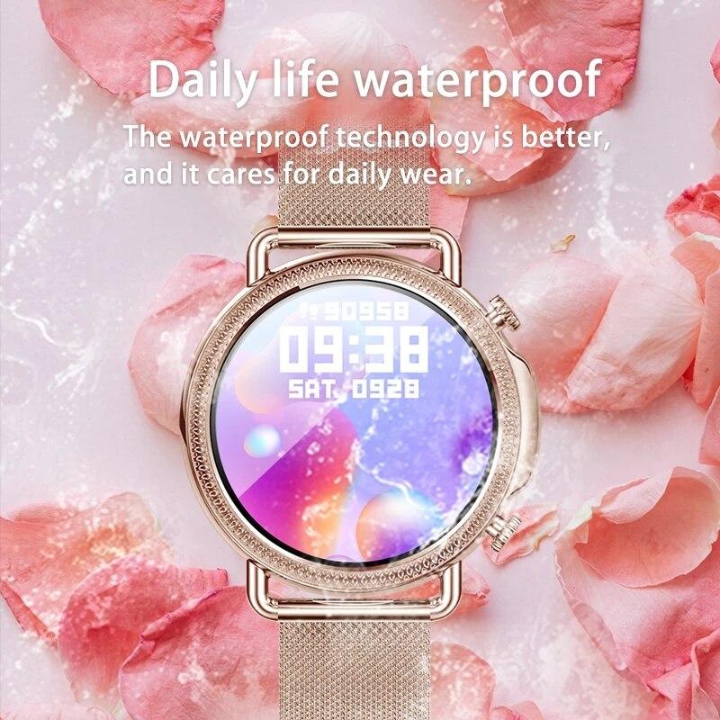 2021 Women Smart Watch 1 28 inch HD Screen IP67 Waterproof Lady s Watches Body Temperature 2021 Women Smart Watch 1.28 inch HD Screen IP67 Waterproof Lady's Watches Body Temperature Heart Rate Monitor PK V23