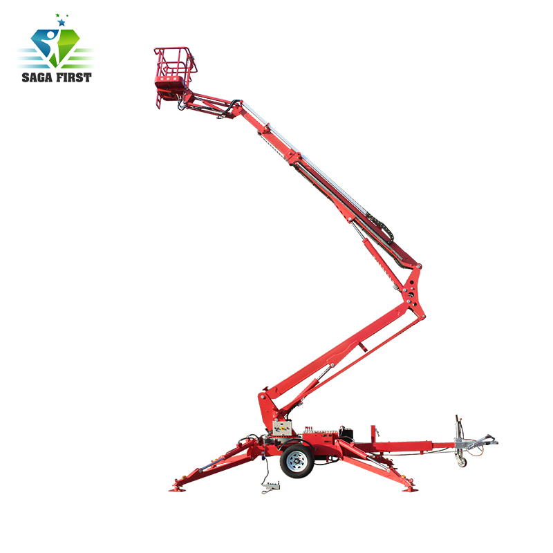 Electric Battery Mobile Trailing Towable Articulating Lift