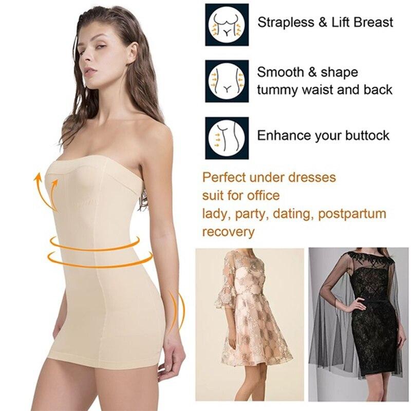 Underdress Body Shaper Control scivola Butt lifter vita Trainer snellente intimo corsetto abito Sexy Shaperwear cinturino modellante 2