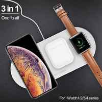 3 in 1 Airpower 10W Wireless Charger Pad Qi Wireless Charger Holder for Apple Watch 4 3 2 1 for mobile phones Fast Charger