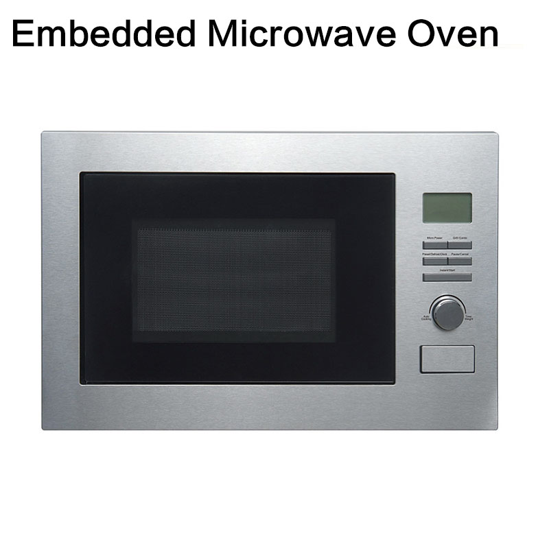 Full Automatic Stainless Steel Multi-function Intelligent Light Wave Oven Household 25 Liter Embedded Microwave Oven