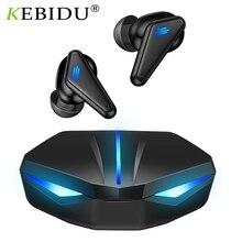 TWS 블루투스 게임용 헤드셋 무선 이어폰 이어 버드 LED 라이트가 장착 된 초 저음 스마트 폰용 낮은 대기 시간 사운드 포지셔닝