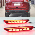 2 шт. Многофункциональный Автомобильный светодиодный фонарь-отражатель  задний противотуманный фонарь  задний бампер  светильник  тормозно...