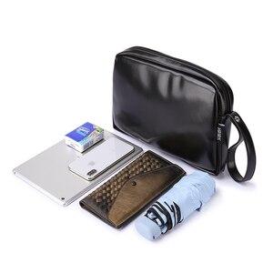 Image 2 - Классическая черная сумка для подгузников для мамы, водонепроницаемая Портативная сумка для подгузников из искусственной кожи, стильная сумка для смены большой емкости для ребенка