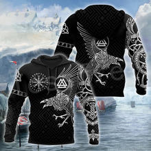Viking warrior god odin тату символ Модные осенние толстовки