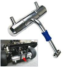 aluminum double hole increase power exhaust pipe tuned pipe for HPI rovan Baja 5B 5T King Motor 1:5 RC Car gtbracing alloy rear hub set 2 toe for hpi km rv baja 5b ss 5t 5sc gr016