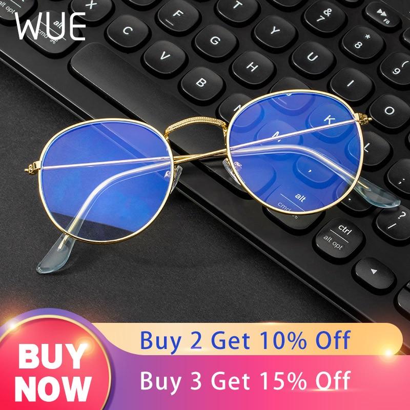 Computer Glasses Anti Blue Ray Glasses Blue Light Blocking Glasses Optical Eye Spectacle UV Blocking Gaming Filter Round Glasses
