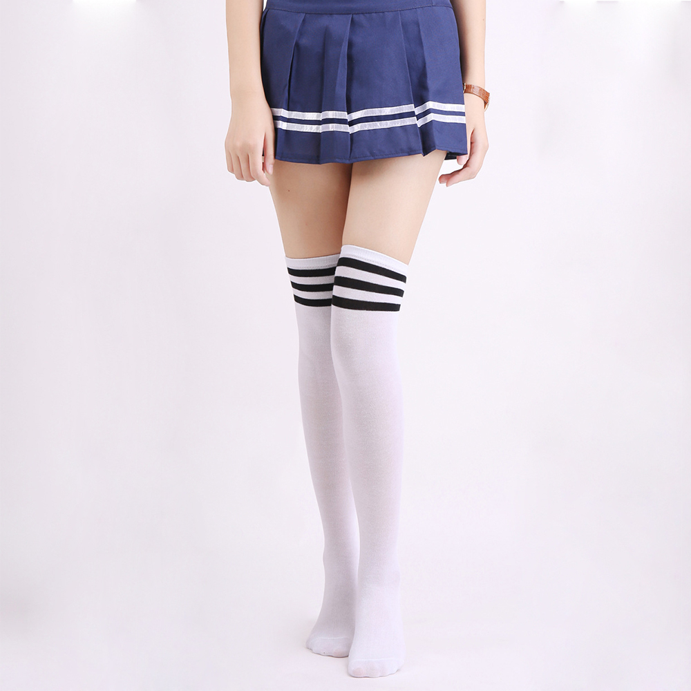 One Size Girls Womens USA Volleyball Over Knee Thigh High Stockings Cute Socks