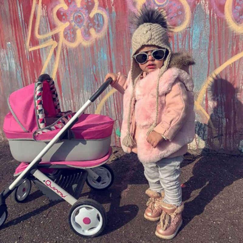 0-3Y Tokldder çocuk kız yelek ceket üstleri Faux kürk katı sıcak yelek kış yelek ceket vücut isıtıcı