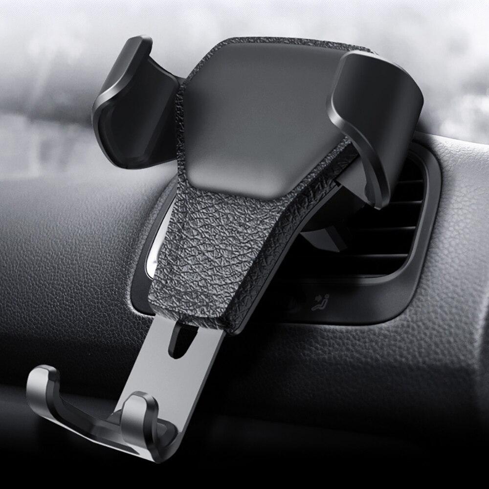 Suporte do telefone do carro de reação de gravidade,, clipe de montagem no ventilador, acessórios suporte para smartfone, presentes