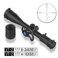 Discovery FFP 4 16X50 6 24 Airsoft sight Tactical hunting Rifle scope First Focal Plane with New Involute Side Parallax Wheel