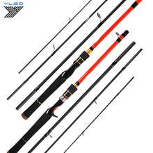 Super Hard Fishing Rod 1.98M 2.1m  baitcasting fishing rod travel ultra light casting spinning lure 5g-40g Freshwater fly rod aqua travel spin 2 40m 10 40g