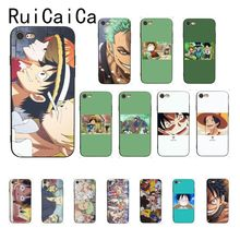 Ruicaica One Piece anime Custom Photo Soft Phone Case for iPhone X XS MAX  6 6s 7 7plus 8 8Plus 5 5S SE XR 11 Pro Max wood floral soft silicone edge mobile phone cases for apple iphone x 5s se 6 6s plus 7 7plus 8 8plus xr xs max case
