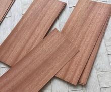 50pcs 6x16cm Thickness:0.5mm  Sapele Wood Chips Solid Wood Sheets Veneer