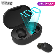 VITOG E6S Wireless Bluetooth 5.0 Waterproof Earphone Sports Earbuds Noise Cancel Stereo Han