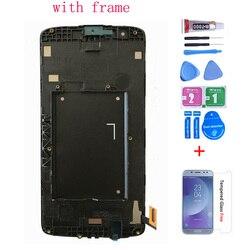 Oryginalne do lg K8 LTE K350 K350N K350E K350DS wyświetlacz LCD z montaż digitizera ekranu dotykowego z ramą darmowa wysyłka w Ekrany LCD do tel. komórkowych od Telefony komórkowe i telekomunikacja na