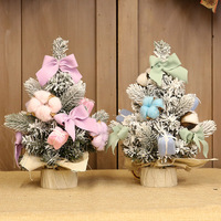 Christmas Decorations Potted Tree Bonsai Tree Pink Blue Christmas Tree Desktop Ornaments Ornaments for Home Desktop Decorations