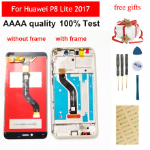 For Huawei P8 Lite 2017 LCD Screen P9 lite 2017 LCD Display PRA-LA1 PRA-LX1 PRA-LX3 Touch Screen Digitizer Sensor Assembly Frame(China)