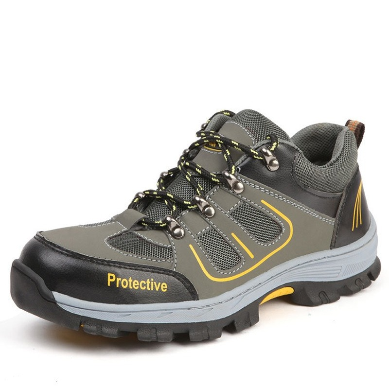 Wilderness Survival Safety Shoes Steel Toe Steel Mid-plate Anti-slip Anti-smashing Work Men Work Boot SA-8