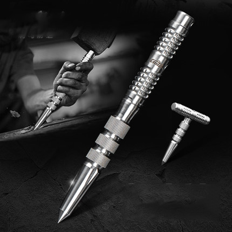 Hot Sale 3 In 1 Emergency Selfdefense Outdoor Tactical EDC Pen Portable Stainless Steel Safety Stick Emergency Survival Tool Kit|Self Defense Supplies| |  - title=