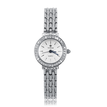 Ladies Bracelet Watch Waterproof Diamond Women's Watch 8810 Steel Belt White pink watch for women bracelet
