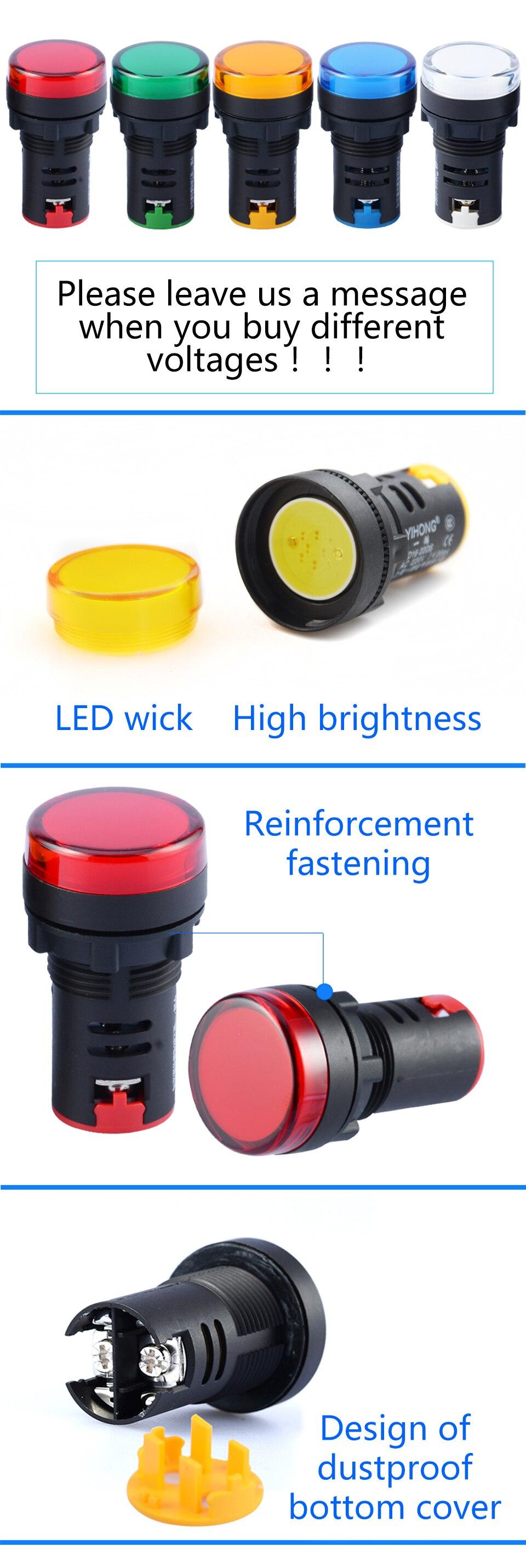 4 pcs 12 V DC DC K01A LED Indicateur Dalimentation Pilote Dash Tableau de Bord Voyant Voyant Davertissement Indicateur Lampe Signal lumi/¨/¨re Vert 10mm