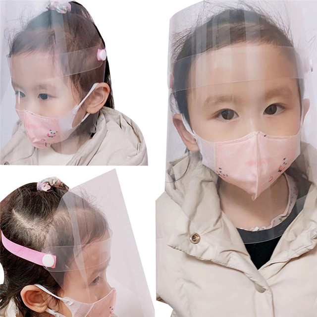 1Pc Safety Adjustable Full Face Shield Clear Flip-Up Visor Plastic Anti-Spitting Saliva-proof Dust-proof Protective Mask 2