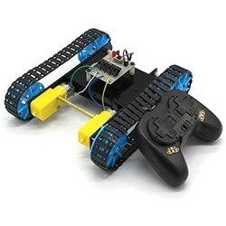 Diy montado tanque modelo de brinquedo com chassi controle remoto inteligente rc kit robô rastreador veículo para crianças