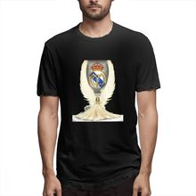 REAL MADRID Angel Casual O-Neck Men's Short Sleeve T-shirt 100% Cotton Tee Shirt Printed men clothes 2019 цена