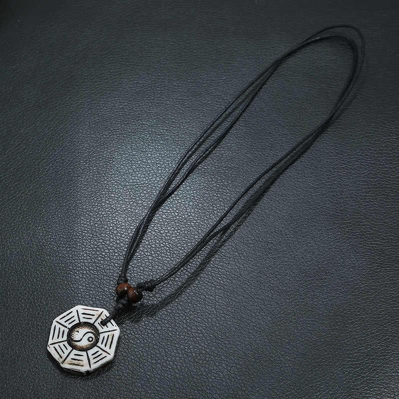 Cibocibo Luxe Ketting Mannen 2019 Retro Hoge Kwaliteit Touw Ketting Lederen Mannen Ketting Vintage Brand Design Gepersonaliseerde Collares