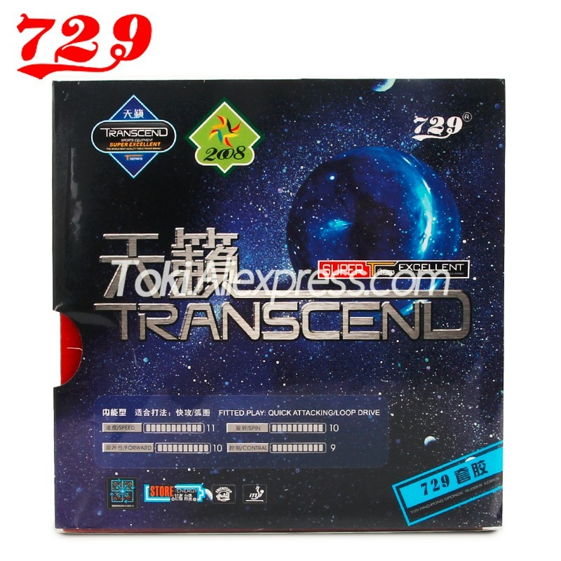 Friendship 729 Transcend Classic Pips-In 729 Table Tennis Rubber With Ping Pong Sponge Transcend Cream