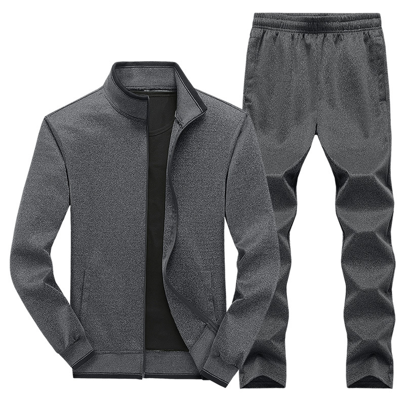 2019 Autumn And Winter New Style Sports Set Men'S Wear Middle-aged Men Trend Loose-Fit Cardigan Casual Jogging Suits Set