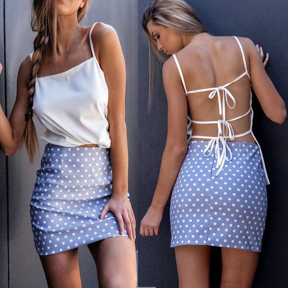 Sexy Backless Sleeveless Tank Tops Stylish  Women Lady Beachwear For Party Nightclub Vacation Comfortable Shirts Hot