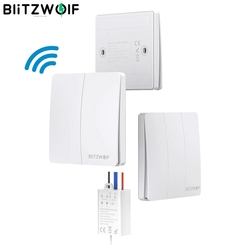 BlitzWolf BW SS2 100W/50W RF 433MHz Smart Home Module Self-power Wireless Switch Controller 1 2 3 Gang Compatible with BW-SS1