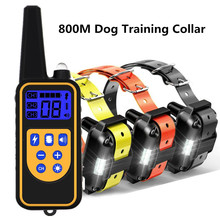 800m Electric Dog Training Collar Waterproof Rechargeable Pet Remote Control With LCD Display For All Size Shock Vibration Sound
