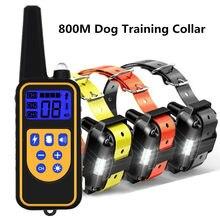 800m Elektrische Hund Ausbildung Kragen Wasserdichte Wiederaufladbare Pet Fernbedienung Mit LCD Display Für Alle Größe Schock Vibration Sound