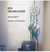 купить Blue Dream Catcher India Hanging Decoration Dreamcatcher For Home Bedroom Living Room Home Decor Dream Catcher Wall Hanging дешево