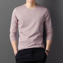 2019 Brand clothing Men Cotton T Shirt Full Sleeve