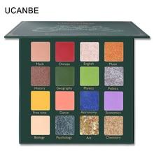 UCANBE Cosmetics Back To School 16 Color Eyeshadow Palette Glitter Matte Pressed Eye Shadow Makeup Pallete Shimmering Pearl