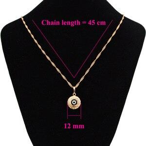 Ожерелье с черным глазом, Женская Золотая подвеска, злые рождественские ювелирные изделия, волшебные маятники, воротник Bijoux Femme Collana Lunga N0206