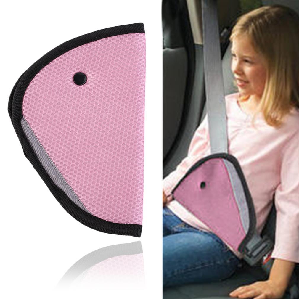 Pro2Color Kids Children Car Safe Fit Seat Belt Adjuster Car Safety Belt Adjust Device Baby Child Protector Positioner Breathabl