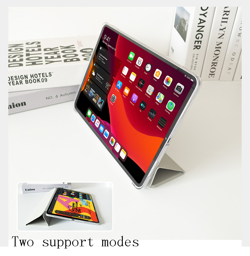 For Tri-fold Leather iPad Cover Case A2324 Tablet PU 4 A2072 iPad 10.9 2020 For Air