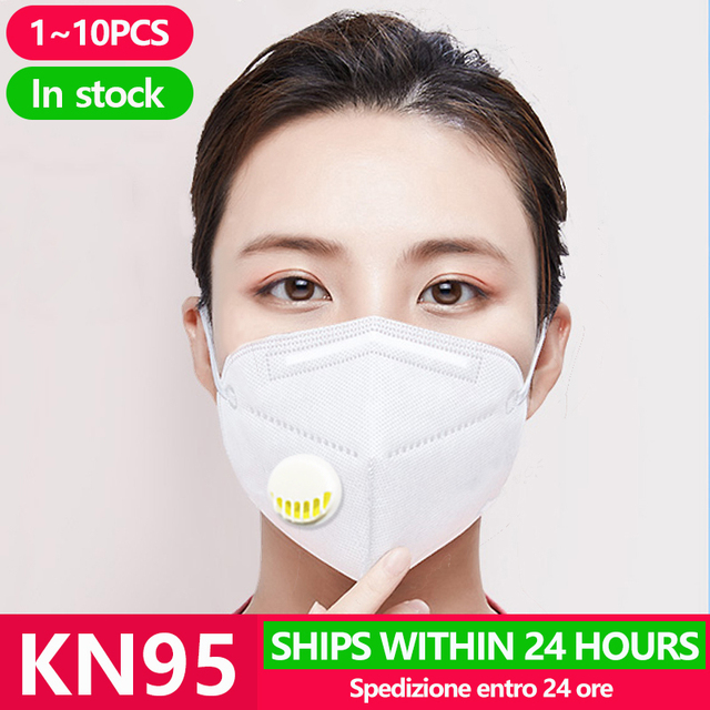 1~20pcs kn95 protection flu facial dust mask face mouth gas filter respirator pm2.5 masks cover n95 ffp2 ffp3 kf94 n 95 fpp3