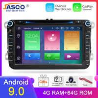 Lecteur de radio DVD de voiture Android 9.0 pour Skoda/Octavia/Fabia/Roomster/Yeti/VW/SEAT/leon