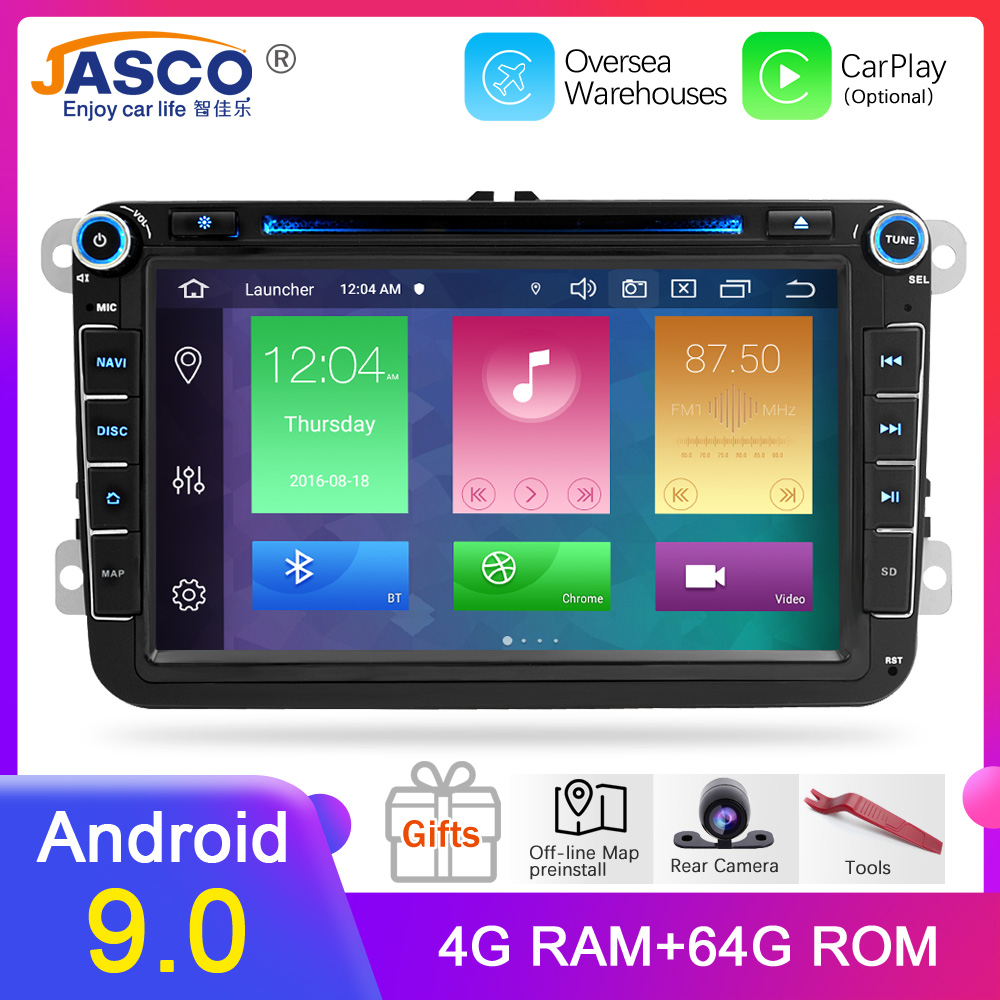 Reprodutor de rádio do carro dvd de android 9.0 para skoda/octavia/fabia/roomster/yeti/vw/seat/leon áudio estéreo fm gps do carro rádio de navegação