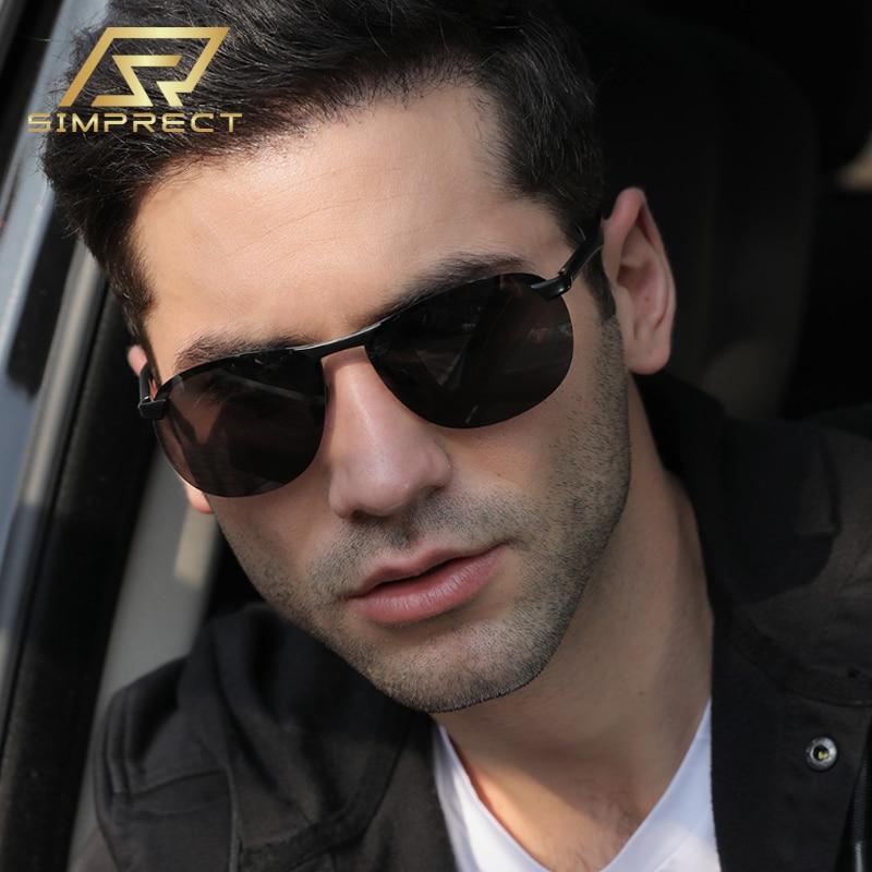 SIMPRECT Aluminum Magnesium Polarized Sunglasses Men 2020 Driver's Photochromic Sunglasses Retro Anti-glare Sun Glasses For Men