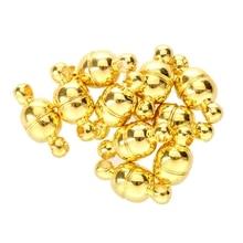 10 PCS Magnetic Clasp Gold Tone Metal 11 x 5 mm TOP цены