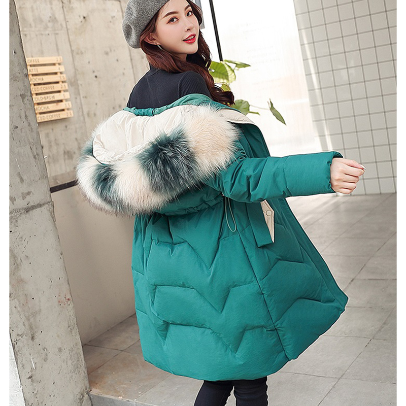 2019 New Long Hooded Thick Warm Cotton Padded Jacket Winter Jacket Women Coat Winter Fur   Parka   Causal Overcoat Women Coats LP491