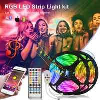 Tira de luces LED de 20M, cinta de diodos RGB 5050, banda de atenuación de 12V, tira de neón Flexible luminosa, decoración navideña para dormitorio cinta led tiras led habitacion