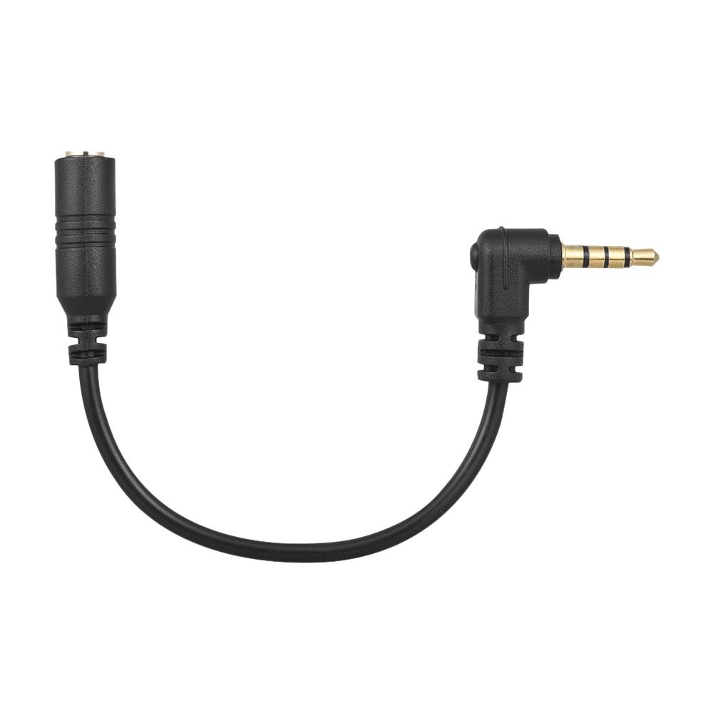 Адаптер для микрофона Andoer, 3,5 мм, 3 полюса, со штекером на 4 полюса